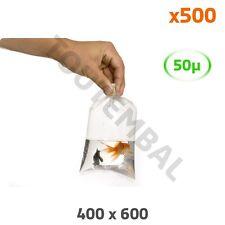 Sachet plastique transparent PEBD 400 x 600 mm 50 µ (par 500)