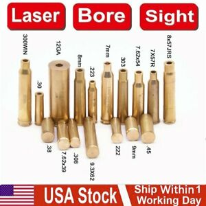 Laser Bore Sight Sighter BoreSighter Gun Red Dot Laser Cartridge Battery Include