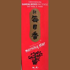 japanische Weihrauch Morning Star Sandalholz 200 Räucherstäbchen Nippon Kodo