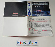 Nintendo Game Boy Nigel Mansell's World Championship Racing Notice / Instruction