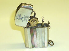 """DUBSKY """"RECORD"""" SEMI-AUTOMATIC LIGHTER WITH MOTHER OF PEARL - 1910 - AUSTRIA"""