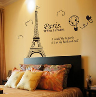 Paris Eiffel Tower Art Decal Mural Wall Sticker Removable Home Bedroom Decor US