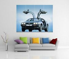 Delorean back to the future giant wall art photo print poster G111