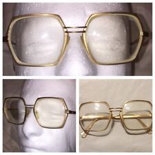 Vtg rare MADE IN ITALY 18k gold plated 50/18 50's 60's Eye Glass Frames Movie