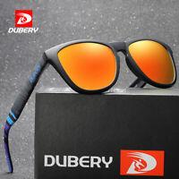 DUBERY Men's Polarized Sport Sunglasses Outdoor Driving Fishing Square Glasses