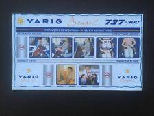 Safety Card / VARIG BARSIL / BOEING 737-300 /