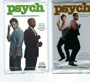 Psych  seasons 1-8 , trading card packs