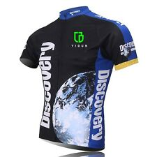 Discovery Channel Men's Cycling Jerseys Mountain Bike Bicycle Jersey Tops Blue