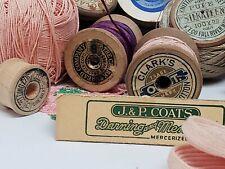 Vintage Sewing Assortment - Spools of Thread - Coats & Clark's, J & P Coats, Dmc