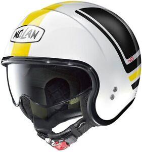 Helm Jet Von Motorrad Mit Visier Kurz Nolan N21 Flybridge Gelb Weiss Braon