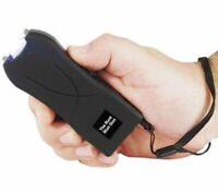 POLICE Stun Gun BLACK - 20 MV Mini Rechargeable LED Flash Light taser Case Pin