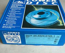 2 x ATE Power Disc Bremsscheiben 24.0324-0105.1 FORD USA Probe MAZDA 626 VORNE