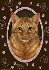 Paws Garden Flag - Orange Tabby Cat 179551