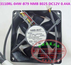 Original NMB 3110RL-04W-B79 8025 chassis power supply cooling fan DC12V 0.44A