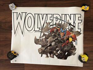 "VTG 1987 Wolverine Poster Frank Miller Marvel Retail Store Display 22.25""x 33"""