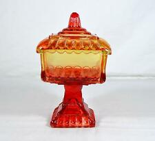 Vintage Westmoreland Glass Amberina Stained Wedding Bowl/Candy Dish