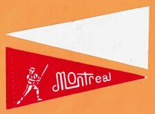 OLD RARE MONTREAL EXPOS PREMIUM MINI PENNANT ETCHED Unused Unsold