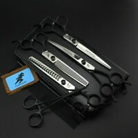 7.0 inch Pet Dog Hair Grooming Scissors Cutting Curved Thinning Chunker Shears