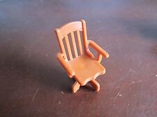 Vintage Fisher Price Dollhouse Doll house 261 Desk Set Swivel Chair 1980-1983