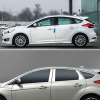 Windows Molding Trim Decoration Strips w/ Center Pillar For Ford Focus Hatchback