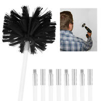 Chimney Cleaner Brush Cleaning Rotary Sweep System Fireplace Kit Rod