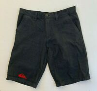 QUIKSILVER men's 90s retro charcoal grey embroidered pinstripe shorts size 32