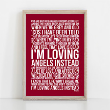 More details for robbie williams angels song lyrics poster print wall art