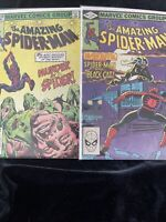 Amazing Spider-Man #227 - 228 (2 Books) Black Cat App. Marvel 1982