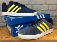 ADIDAS 350 MENS UK 7.5 EU 41 1/3 BLUE YELLOW SUEDE TRAINERS RRP £70  *RE-DYE* E