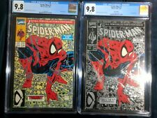 SPIDER-MAN #1 MCFARLANE CGC 9.8 SILVER & GREEN SET MINT VERY COLLECTIBLE!