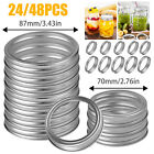48Pcs Regular/Wide Mouth Canning Bands Rings for Mason Jar Replacement 70mm/87mm