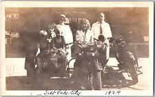 ORIGINAL Antique 1929 HARLEY DAVIDSON MOTORCYCLE & SIDECAR Vintage 1920's Photo