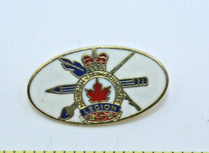Royal Canadian Legion Logo Oval Shaped Collectible Pinback Pin Button Canada