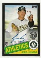 2020 Topps Series 2 JESUS LUZARDO 1985 Autograph Auto BLACK 146/199 Athletics RC