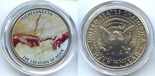 USA STATI UNITI 1/2 DOLLARO MICHELANGELO DI KENNEDY LA CREAZIONE ADAM