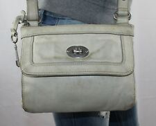 FOSSIL Small Beige Leather Shoulder Hobo Slouch Tote Satchel CrossBody Purse Bag
