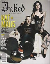 JAN 2013 INKED vintage tattoo magazine - DEADMAU5 - KAT VON D