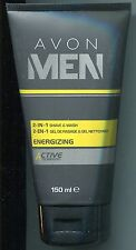 (100 ml = 5,00 €) Avon - Men Energizing - 2-in-1 Rasier- und Reinigungsgel