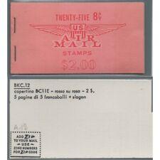 1962-64 STATI UNITI U.S.A. - LIBRETTO AIR MAIL 25 x 8 c. - UNIF. n. A12 - MF6359