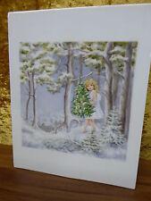 Wallendorf Malerei Porzellan Mädchen im Weihnachtswald Kunsthandwerk