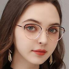 Woman Cateye Frame Metal Eyeglasses Butterfly Triangular Prescription Glasses
