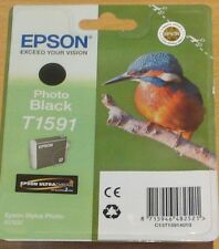 GENUINE EPSON T1591 Photo Black cartridge ORIGINAL KINGFISHER OEM ink for R2000