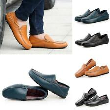 Men England Boat Casual Leather Slip On Loafers Moccasins Driving Shoes Flats JJ