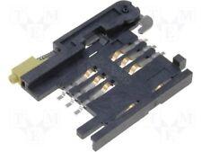 SIM Kartenverbinder mit Auswerfer SMD LCP UL94V-0 Molex