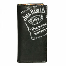 Jack Daniel's Rodeo Black Leather Wallet Black