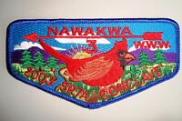 OA NAWAKWA LODGE 3 ROBERT E LEE COUNCIL PATCH BLUE 2003 CONCLAVE DELEGATE FLAP