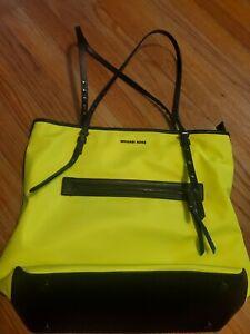 Michael Kors Leila Neon Yellow / Green Large Tote Shoulder Bag Purse