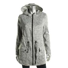 NWT G.H. Bass & Co. Heather Steel Gray Knit Hoodie Hooded Jacket Outerwear S