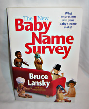 NEW The New Baby Name Survey Book by Bruce Lansky (2007, Paperback)