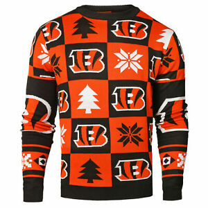 Forever Collectibles NFL Men's Cincinnati Bengals 2016 Patches Ugly Sweater